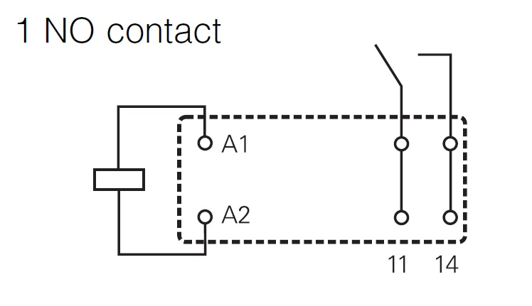 pcb inrush-relay 1 c  o 24vdc 16a pinning 5 0