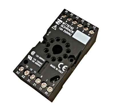 11 pole socket with connection for 3 pole mt relays shop schrack technik