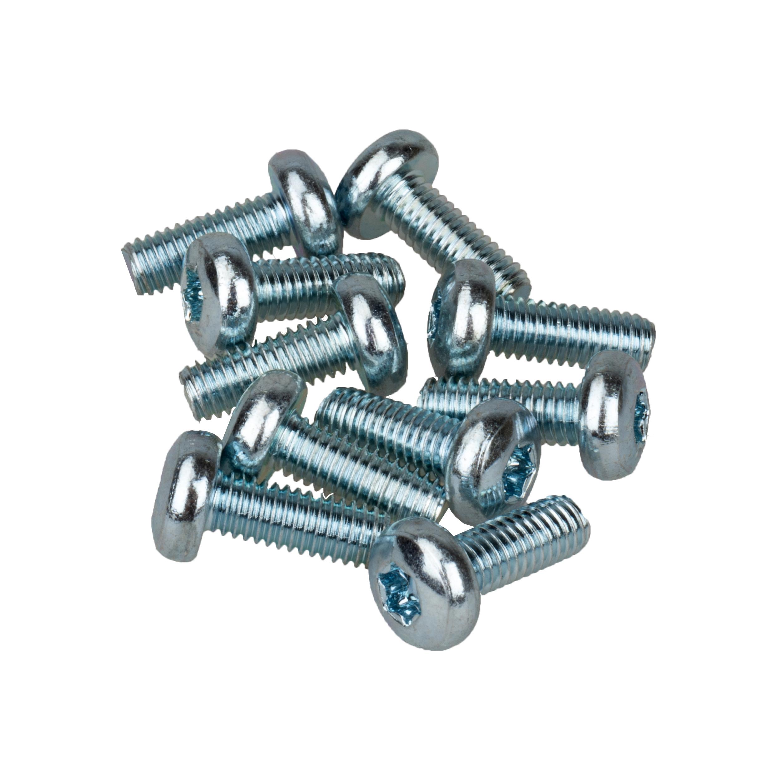 1 VE Linsenkopfschrauben M6x16mm nach ISO 7380 (VE=10 Stk.) ACCNK006--