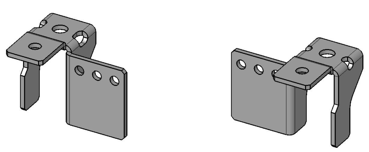 1 VE Montageplatten Tiefenverstellungssatz (VE=2 Stk.) ACMPD002--