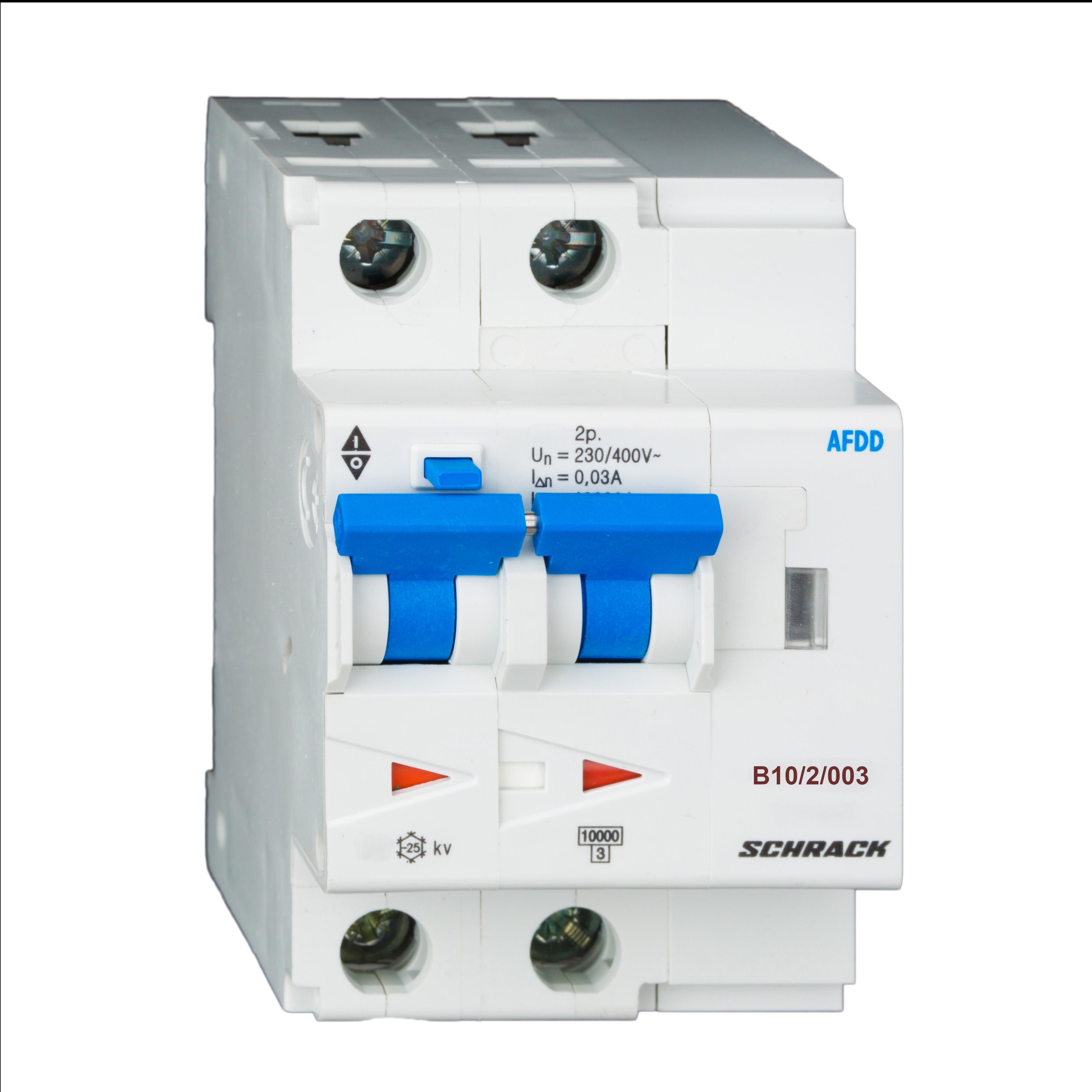 1 Stk AFDD, Serie Lisa, B 10 A, 2-polig, 30 mA, Typ AC, 10 kA BA618910--