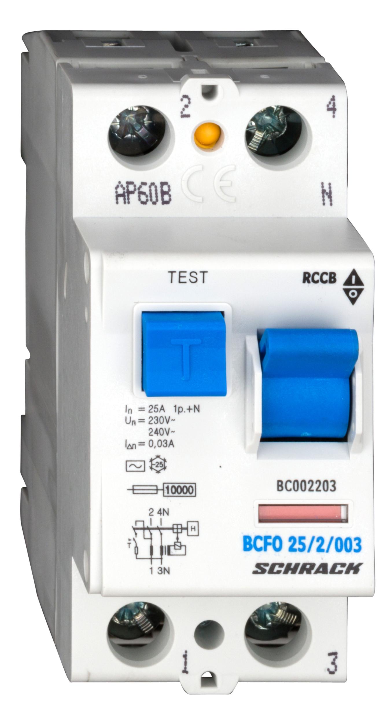 1 Stk FI-Schalter 25 A, 2-polig, 30mA, Typ AC BC002203--