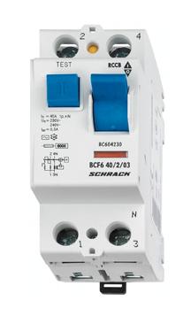 1 Stk FI-Schalter 25 A, 2-polig, 100mA, Typ AC BC002210--