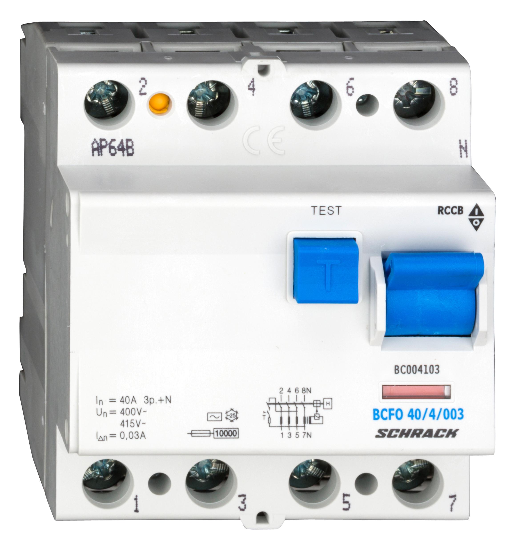 1 Stk FI-Schalter 40A, 4-polig, 30mA, Typ AC BC004103--