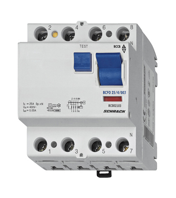 1 Stk FI-Schalter 40A, 4-polig, 300mA, Typ AC BC004130--
