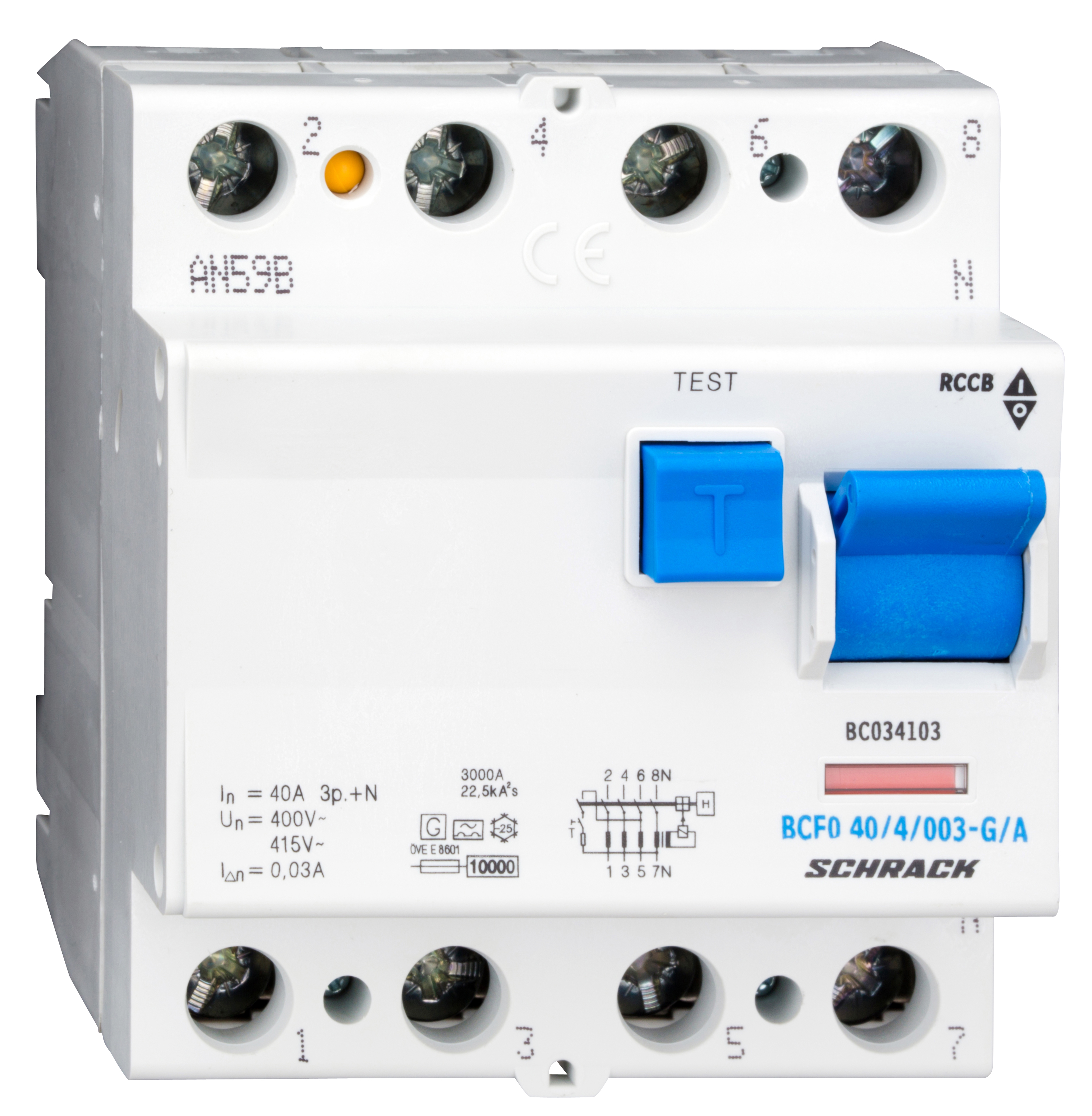 1 Stk FI-Schalter, 40A, 4-polig, 30mA, Bauart G, Typ A (Puls) BC034103--