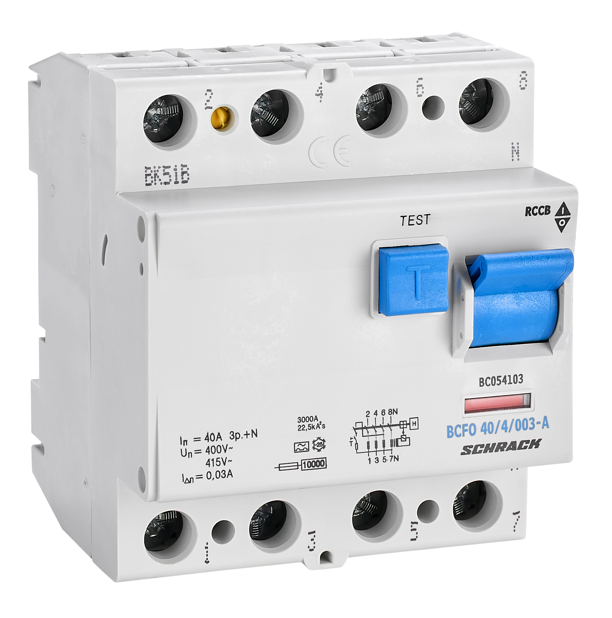 1 Stk FI-Schalter, 40A, 4-polig, 30mA, Typ A (Puls) BC054103--