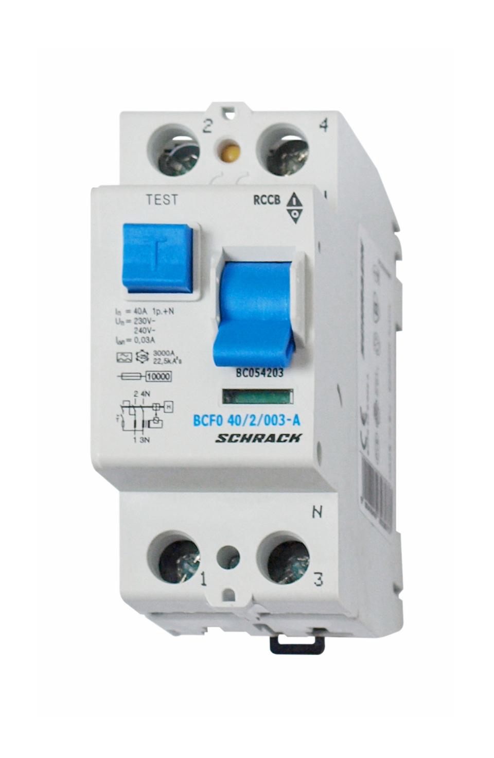 1 Stk FI-Schalter, 40A, 2-polig, 30mA, Typ A (Puls) BC054203--