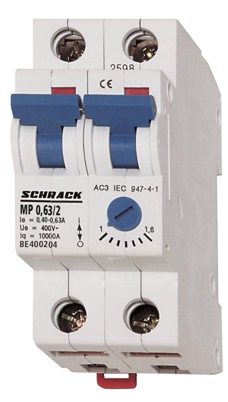 1 Stk Motorschutzschalter 0,10-0,16A, 2-polig BE400201--