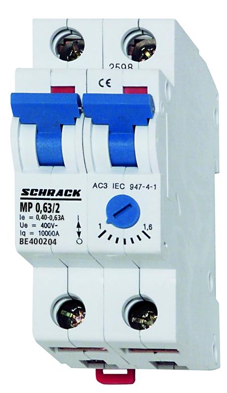 1 Stk Motorschutzschalter 0,40-0,63A, 2-polig BE400204--