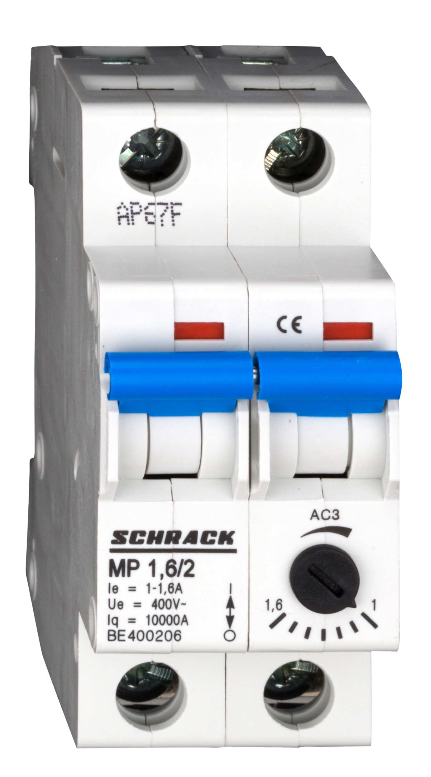 1 Stk Motorschutzschalter 1,0-1,6A, 2-polig BE400206--
