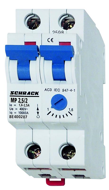 1 Stk Motorschutzschalter 1,6-2,5A, 2-polig BE400207--