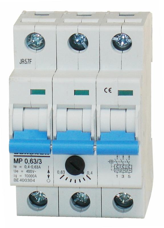1 Stk Motorschutzschalter 0,40-0,63A, 3-polig BE400304--