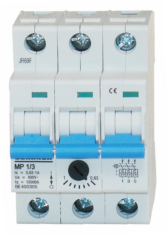 1 Stk Motorschutzschalter 0,63-1,0A, 3-polig BE400305--