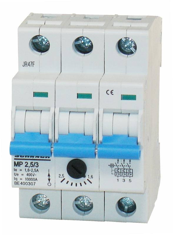 1 Stk Motorschutzschalter 1,6-2,5A, 3-polig BE400307--