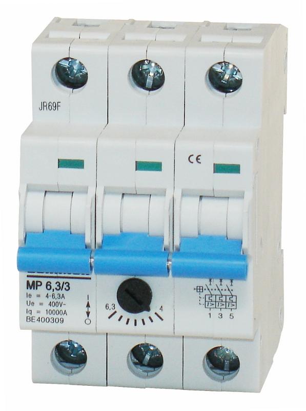1 Stk Motorschutzschalter 4,0-6,3A, 3-polig BE400309--