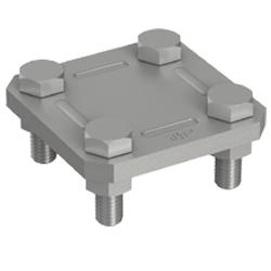 1 Stk Kreuzklemme St/fvz fl. 30mm/fl. 30mm, 2-teilig BG001323--