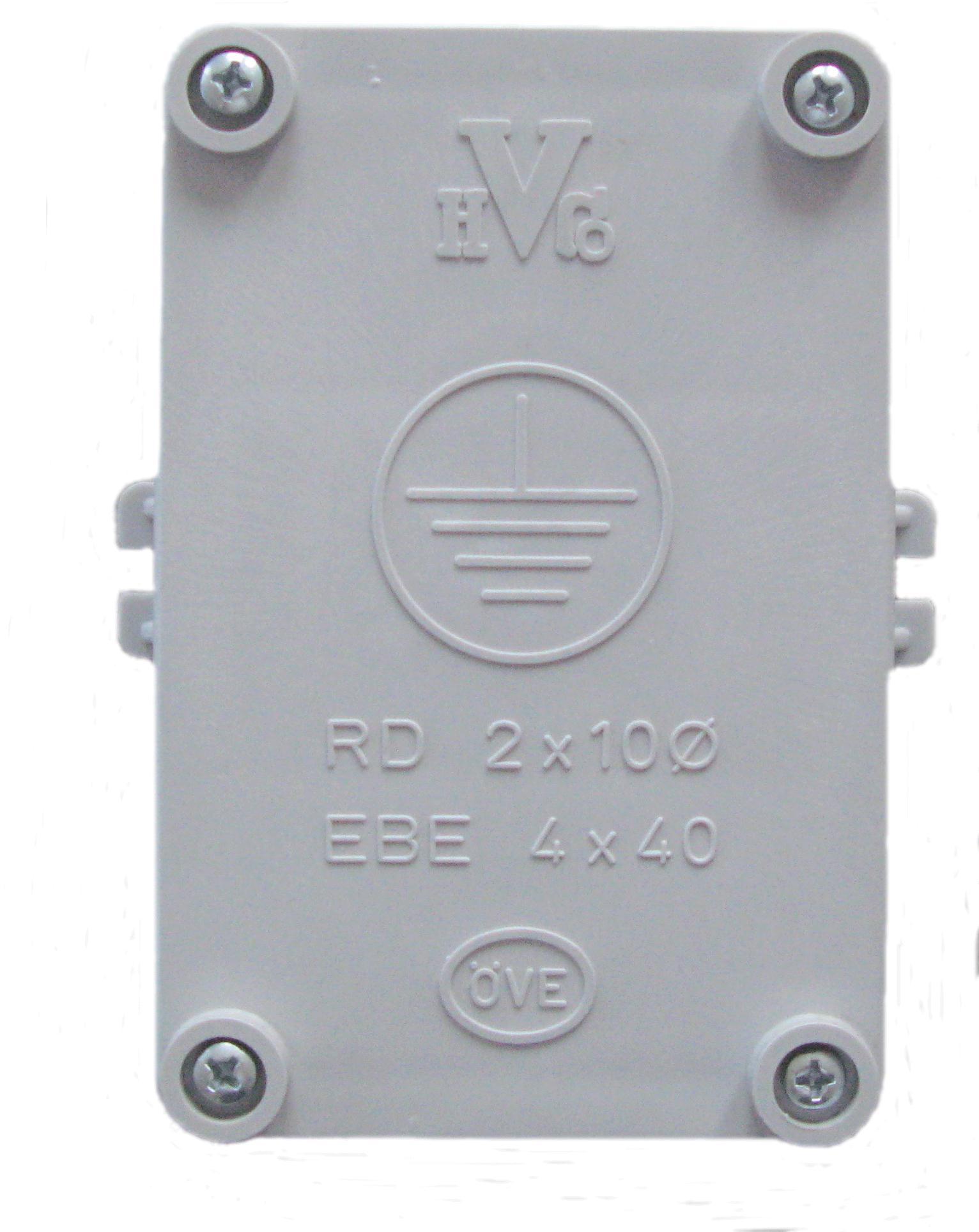1 Stk Banderderdose ÖVE - Bandeisen 4x40mm auf Runddraht 10mm BG005302--