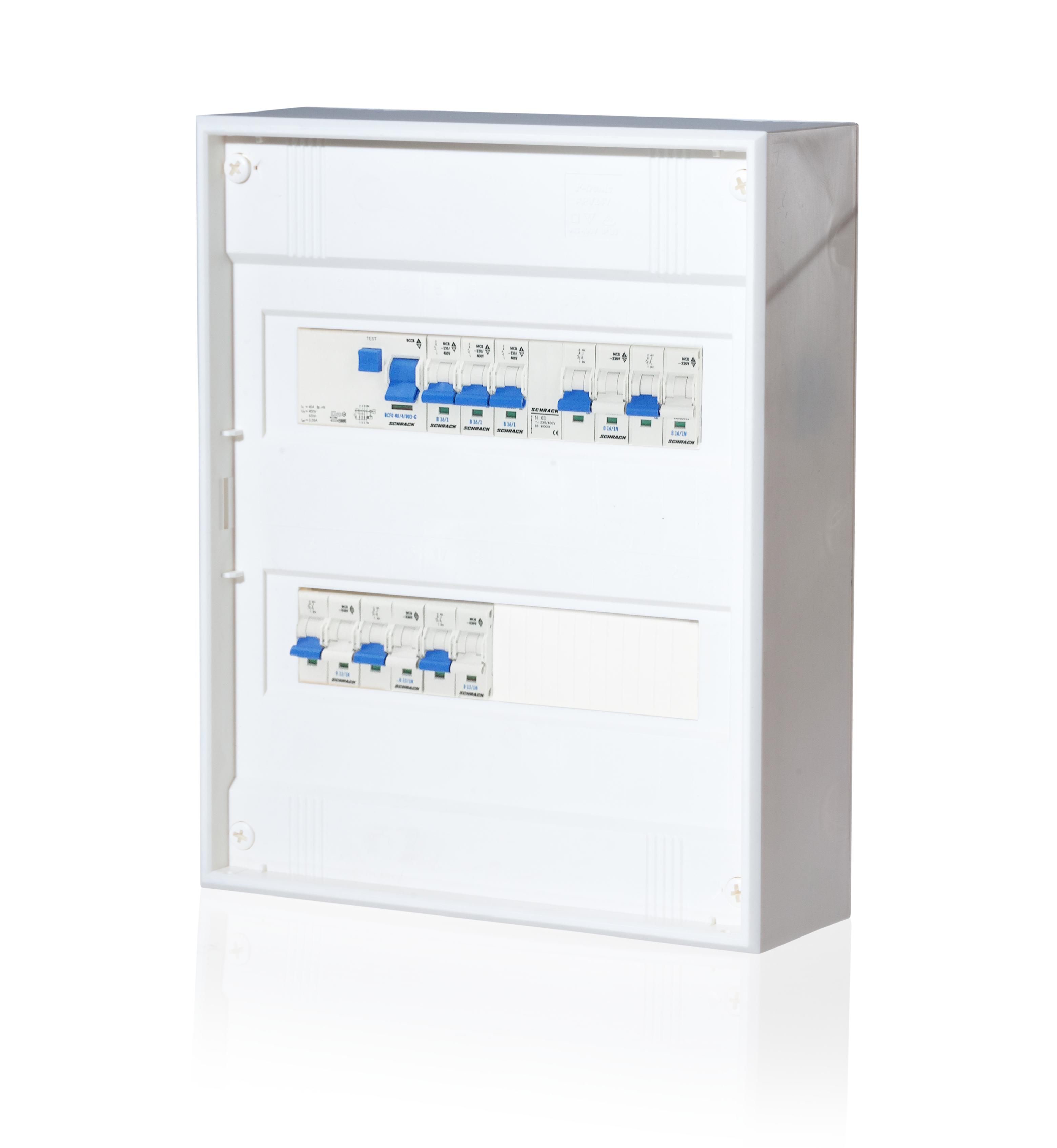 1 Stk AP-Wohnungsverteiler 2-reihig mit FI G, Typ AC BKAP400G--