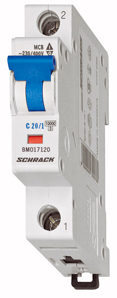 1 Stk DC-Sicherungsautomat, Kennlinie C 20A, 1-polig, 10kA BM015120--