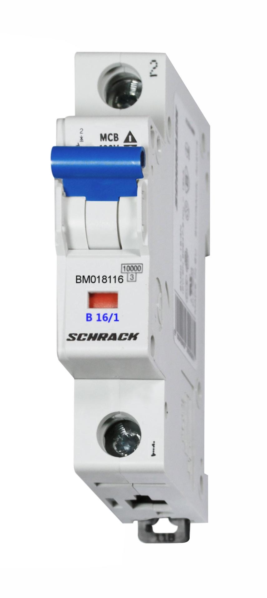 1 Stk Sicherungsautomat, Kennlinie B, 16A, 1-polig, 10kA BM018116--