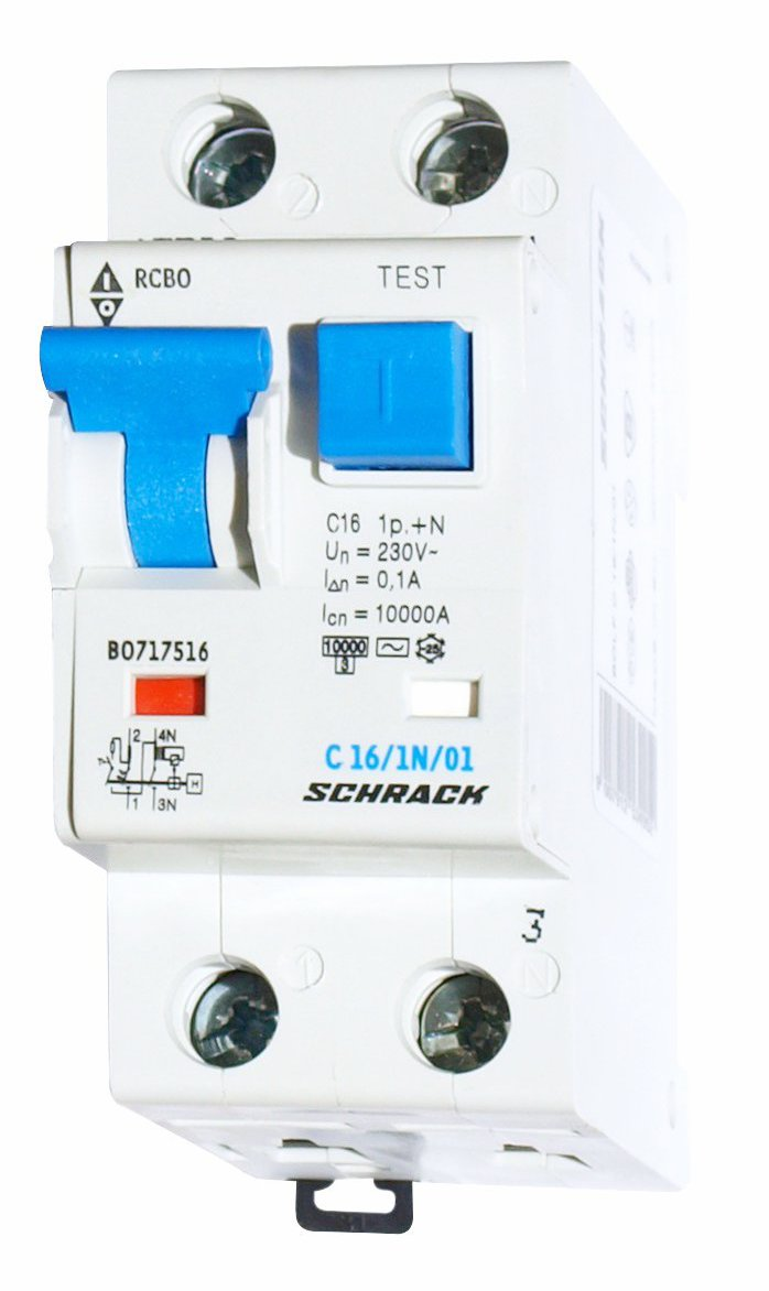 1 Stk LS-FI-Schalter, Kennlinie C, 16A, 100mA, 1-polig+N, Typ AC BO717516--