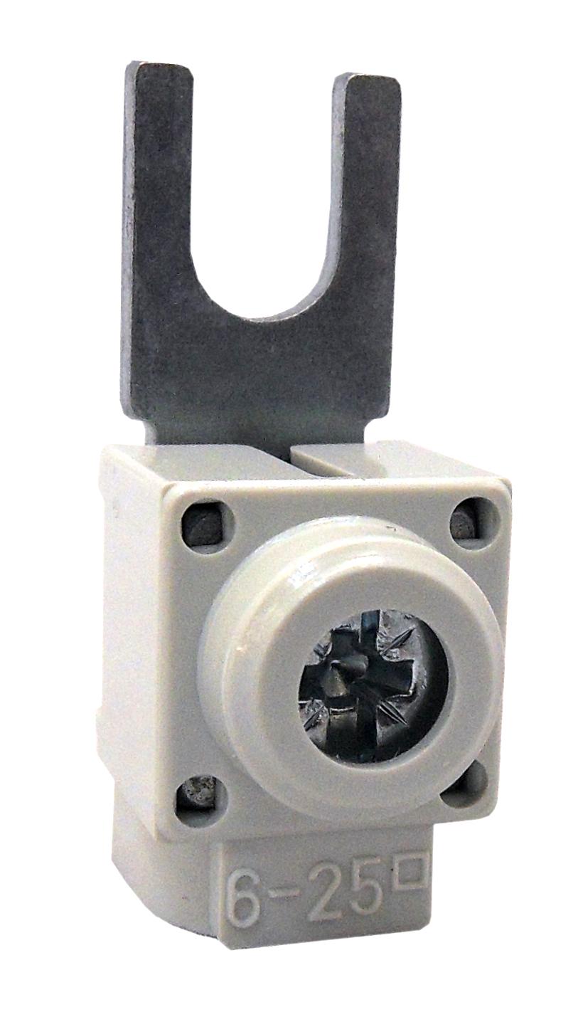 1 Stk Anschlußklemme, Gabel, gerade, 6-25mm², kurz BS900170--
