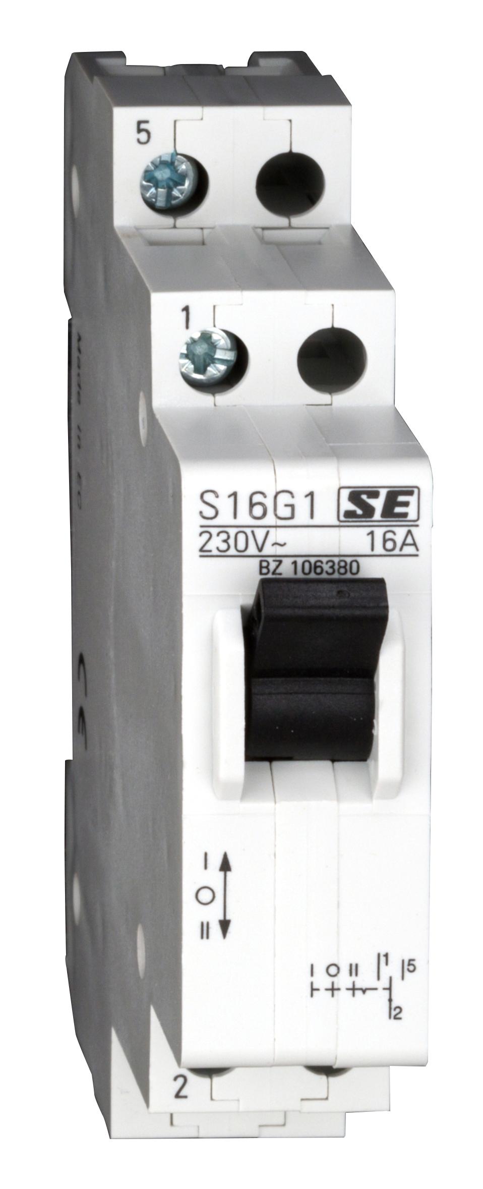1 Stk Reiheneinbau-Umschalter, 1 Wechsler, 1-O-2, 16A BZ106380--