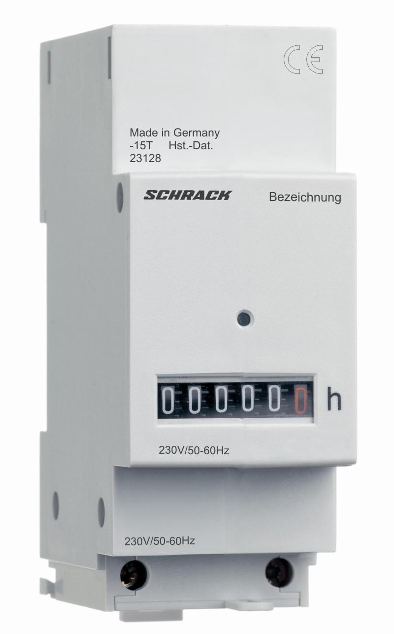 1 Stk Betriebsstundenzähler 230VAC mit Klemmenabdeckung BZ326418-A