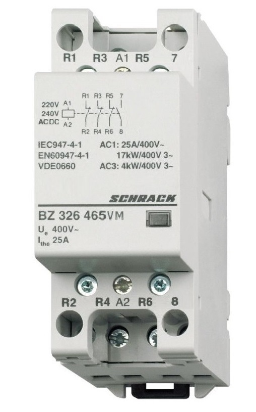 1 Stk Installationsschütz 25A, 1S+3Ö,230VACDC 2TE BZ326465VM