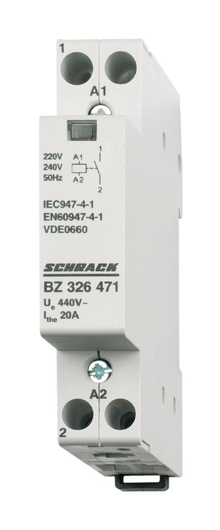 1 Stk Installationsschütz 20A, 1S, 230VAC 1TE BZ326471--
