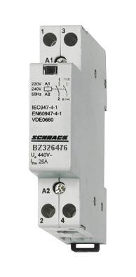 1 Stk Installationsschütz 25A, 1S+1Ö, 24VAC 1TE BZ326476--