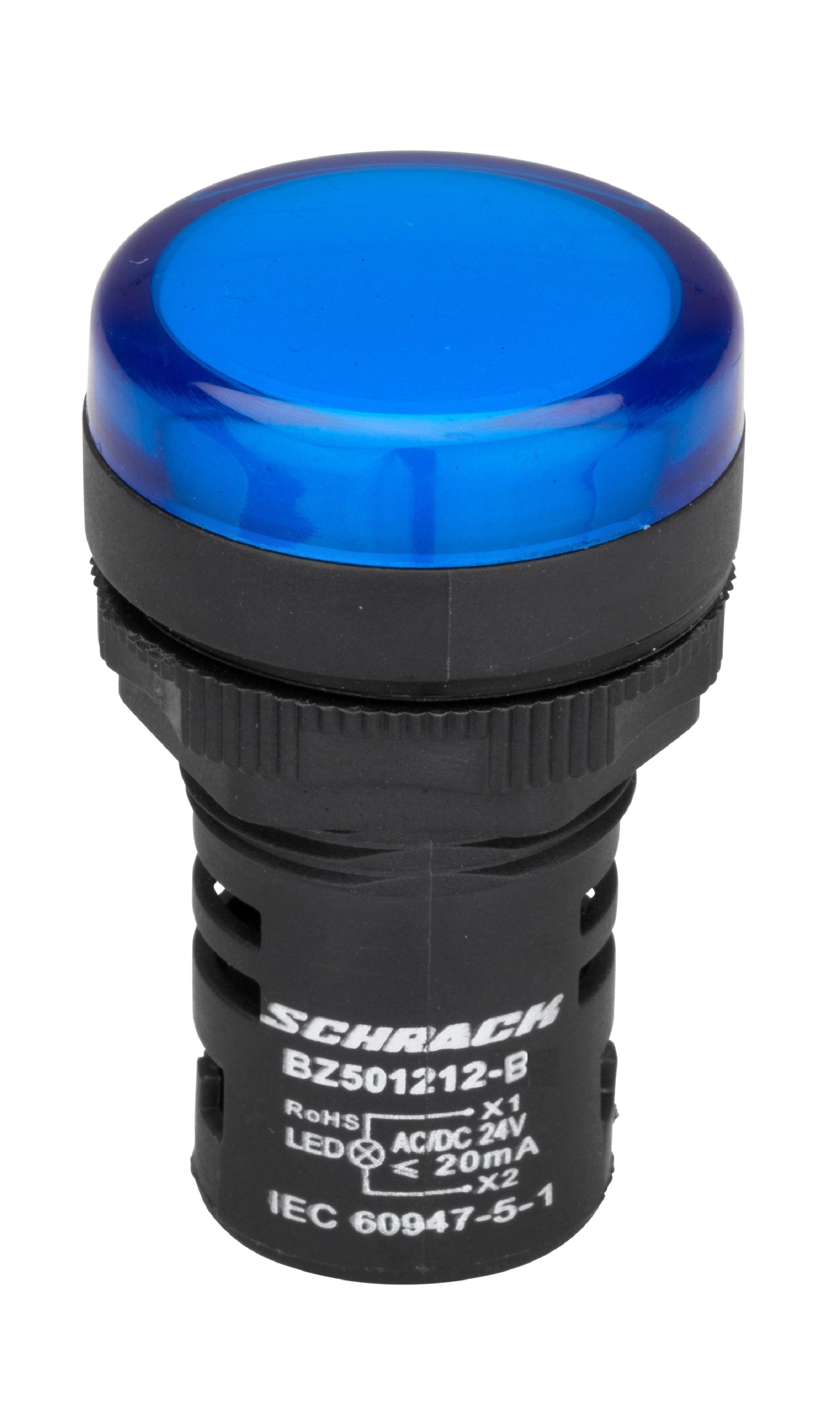 1 Stk LED-Leuchtmelder Monoblock 24V-AC/DC blau BZ501212-B