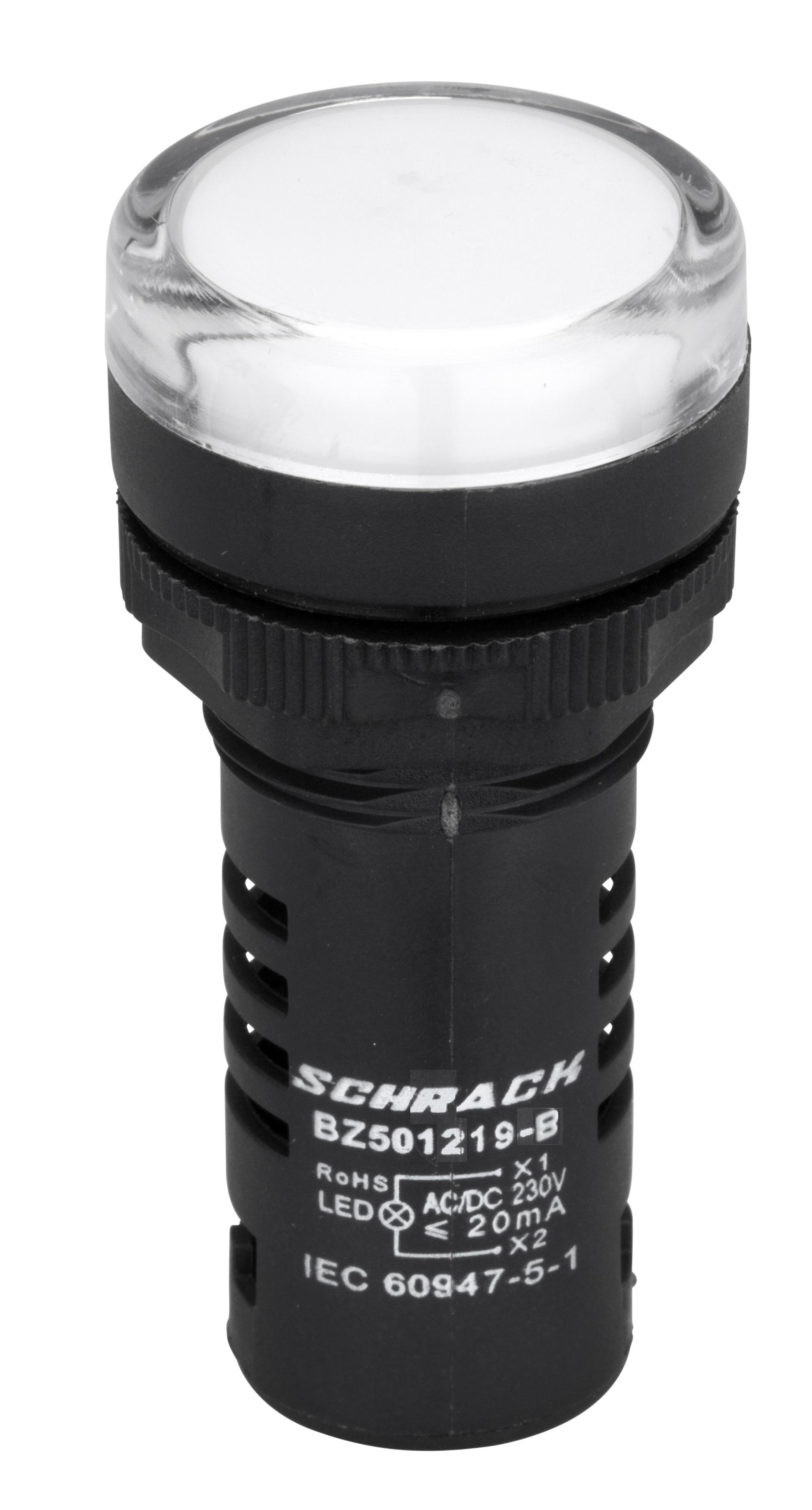 1 Stk LED-Leuchtmelder Monoblock  230 V - AC/DC weiß BZ501219-B