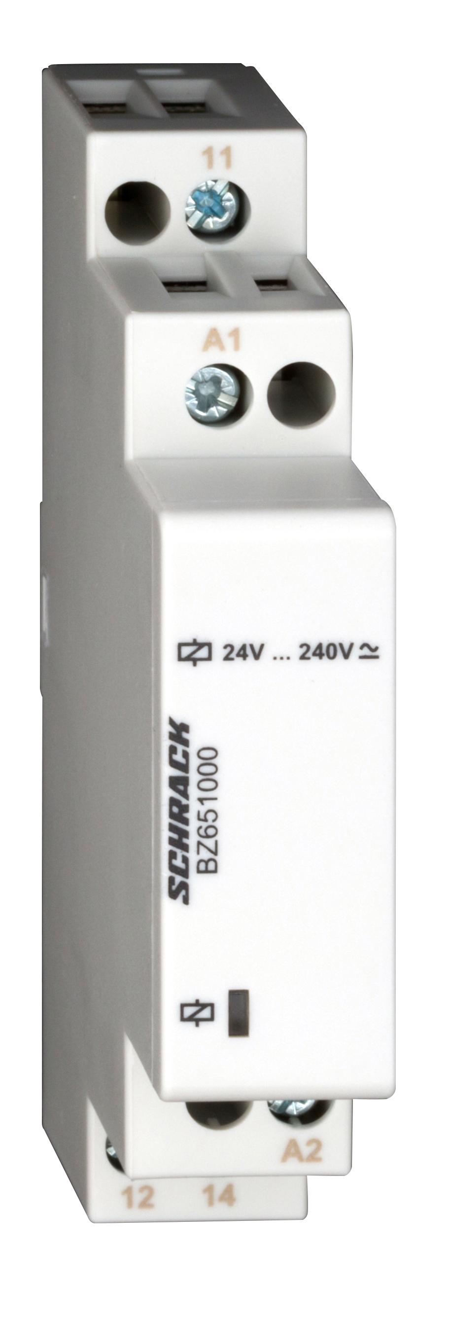 1 Stk Reiheneinbau-Relais, 1 Wechsler, 24-240V AC/DC BZ651000--