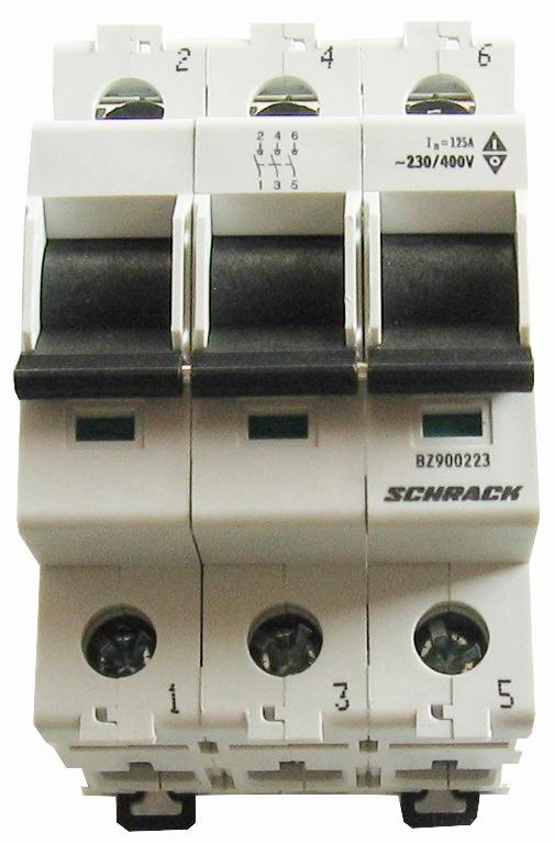 1 Stk Hauptlasttrennschalter, isoliert, 100A, 3-polig BZ900203--