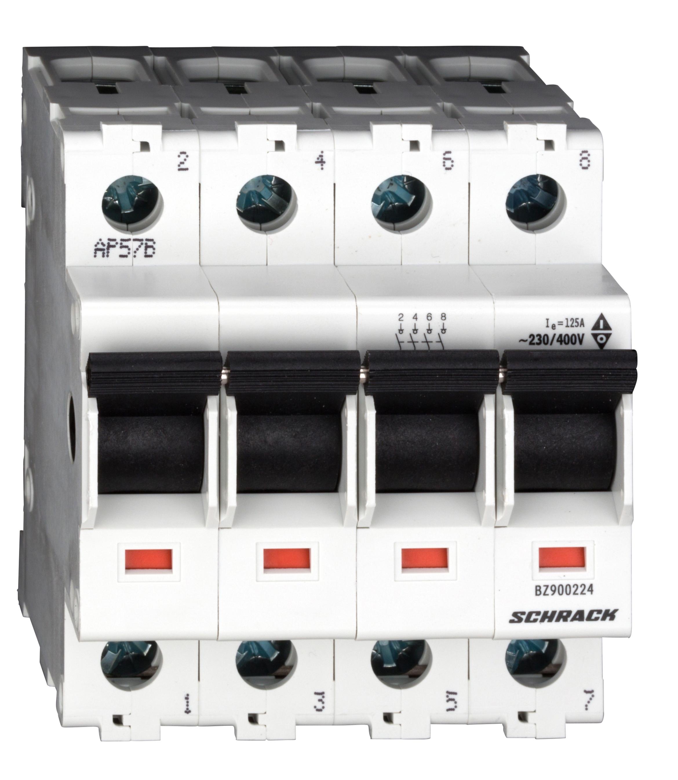 1 Stk Hauptlasttrennschalter, isoliert, 125A, 4-polig BZ900224--