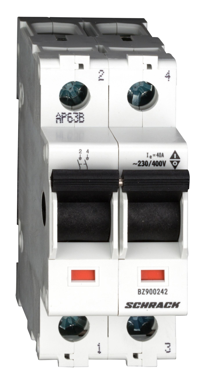 1 Stk Hauptlasttrennschalter, isoliert, 40A, 2-polig BZ900242--