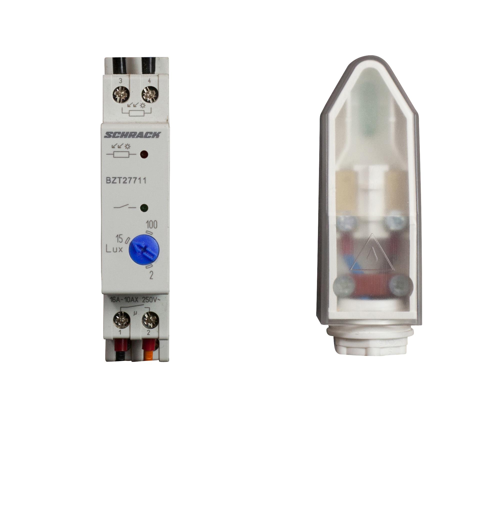 1 Stk Analoger Dämmerungsschalter mit Aufbaulichtsensor 1 TE BZT27711--