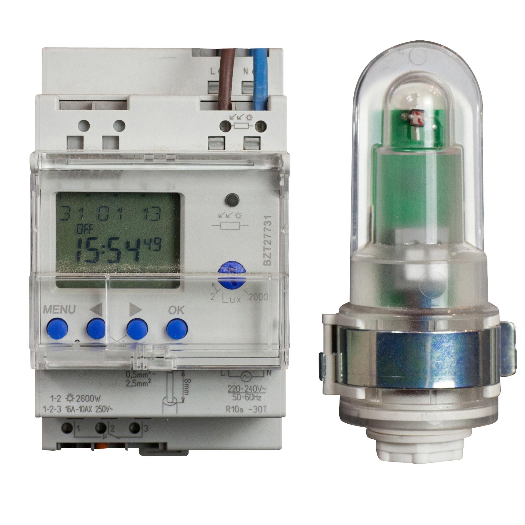 1 Stk Digitaler Dämmerungsschalter 1CH mit Aufbaulichtsensor 3TE BZT27731--