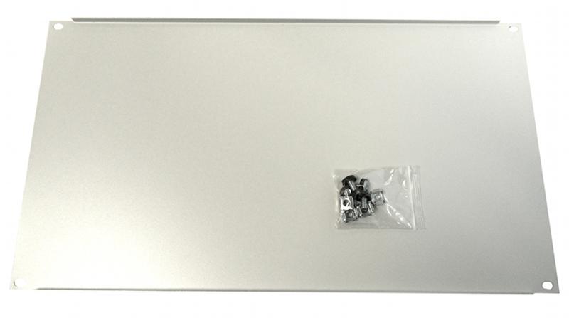 1 Stk Blindplatte Stahl, 19, 6HE, RAL7035 DBO14806--
