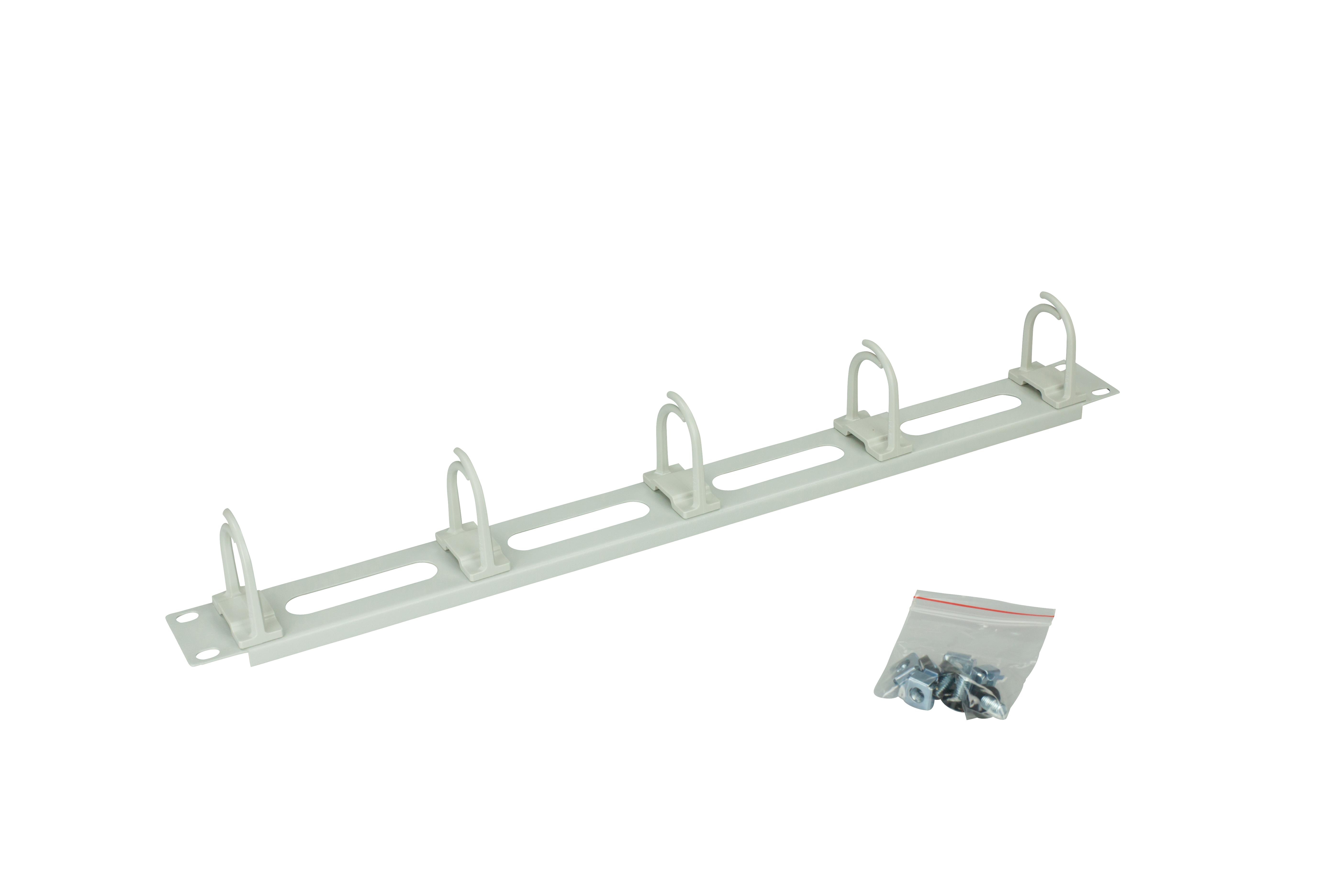 1 Stk 19 Kabelführungspanel mit Öffnungen,5 Ringe 40x53,1HE,R7035 DBS14806--