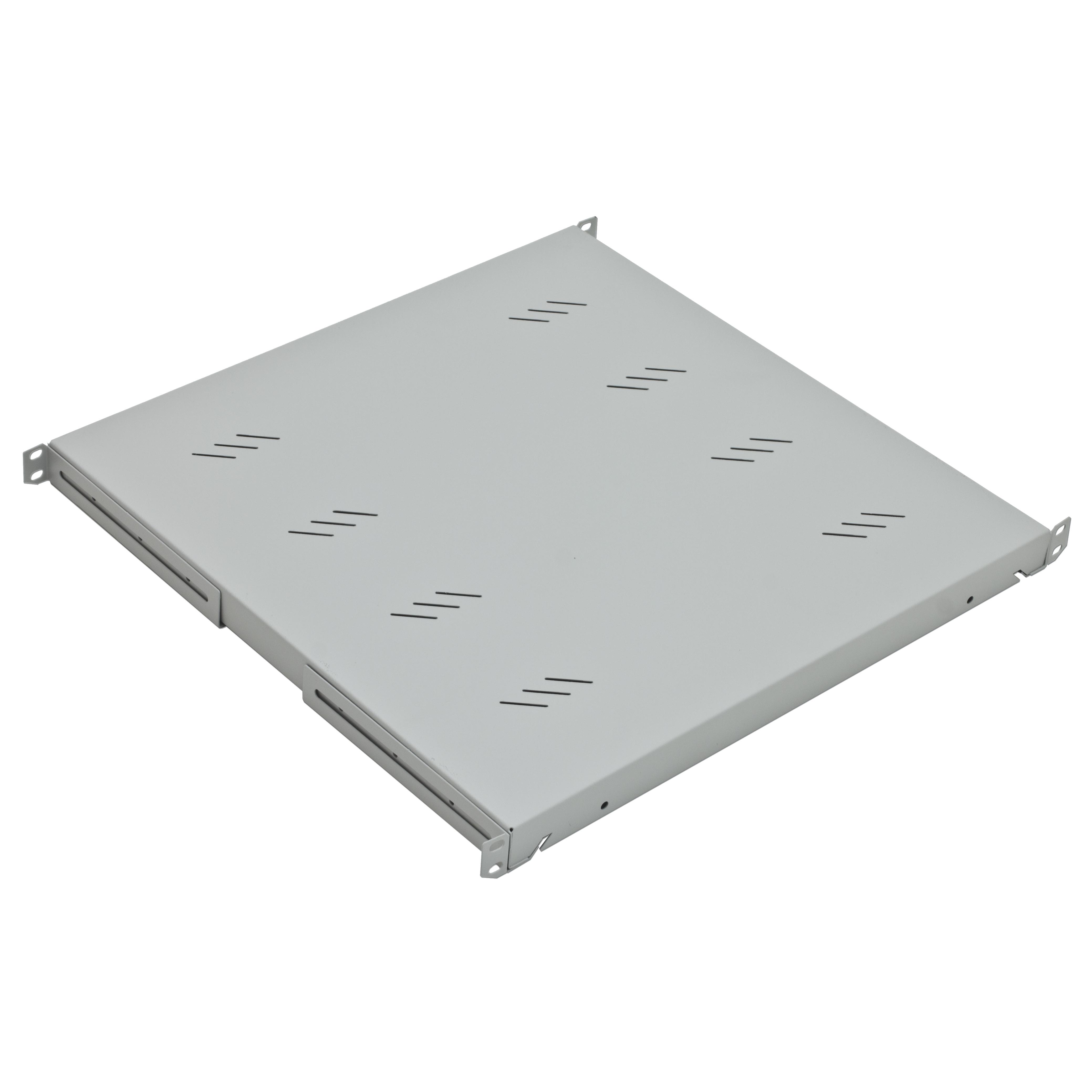 1 Stk 19 Fachboden Fix, bis 80kg Last, T=450mm, 1HE, RAL7035 DFS14845-C