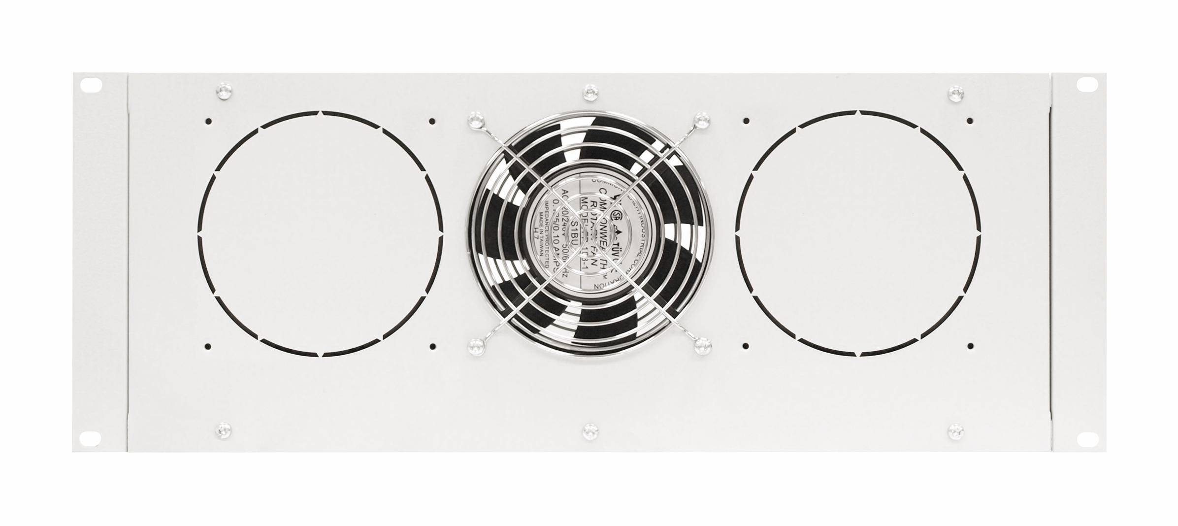 1 Stk Dachlüfter mit 1 Ventilator u. Thermostat, 19, 4HE, RAL7035 DLT44801-A