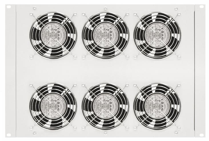 1 Stk Dachlüfter mit 6 Ventilatoren u.Thermostat, 19, 8HE,RAL7035 DLT44806-A