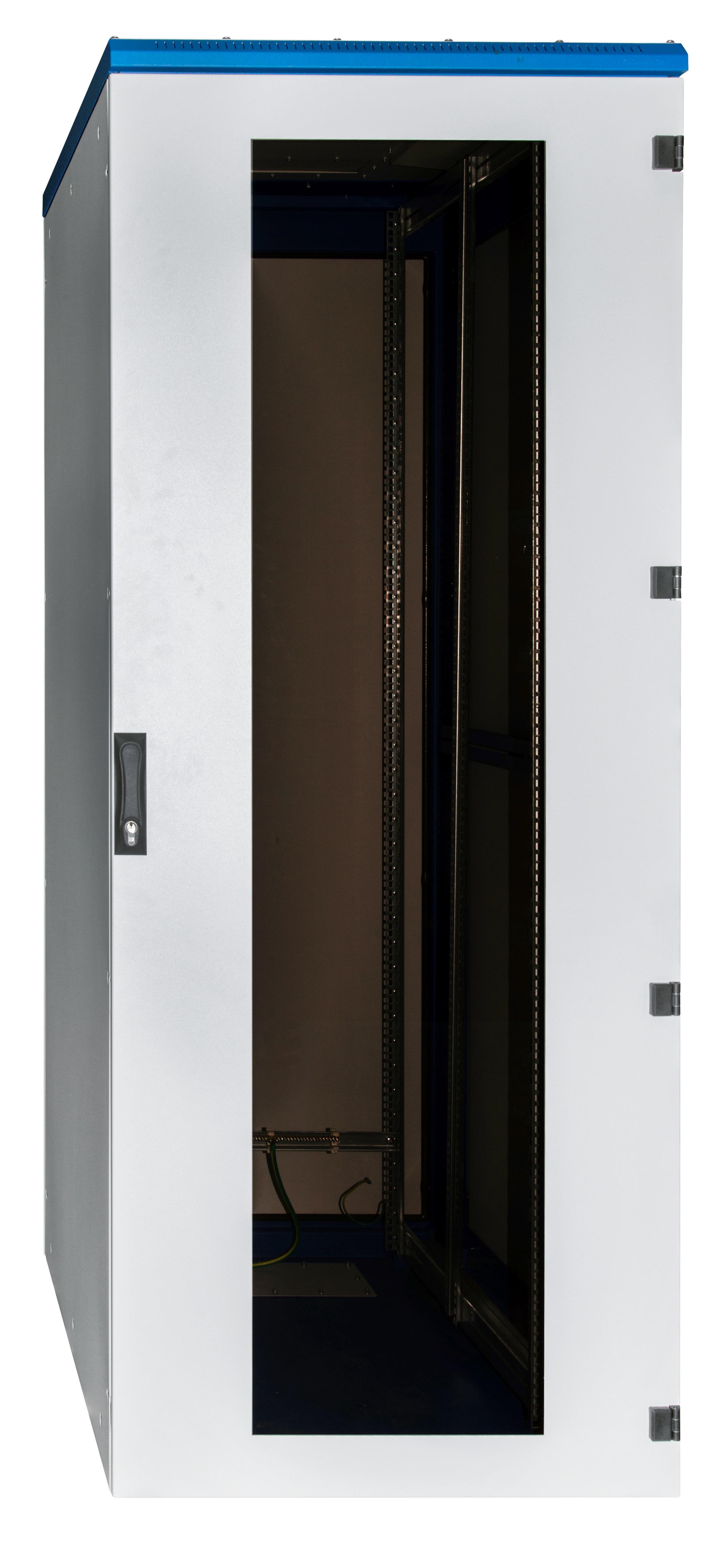1 Stk Netzwerk-Standschrank DSI,B600 x H1970 x T1000,19,42HE,IP54 DSI426010-