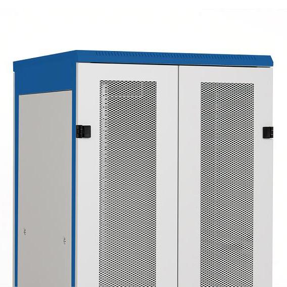 1 Stk Doppel-Tür Metall perfor.80% DS/DSZ/DSS(IP30) 42HE,B800,7035 DSRT4285--