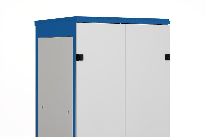 1 Stk Doppel-Tür Metall voll DS/DSZ/DSS(IP30) 45HE, B=800, RAL7035 DSRT4586--