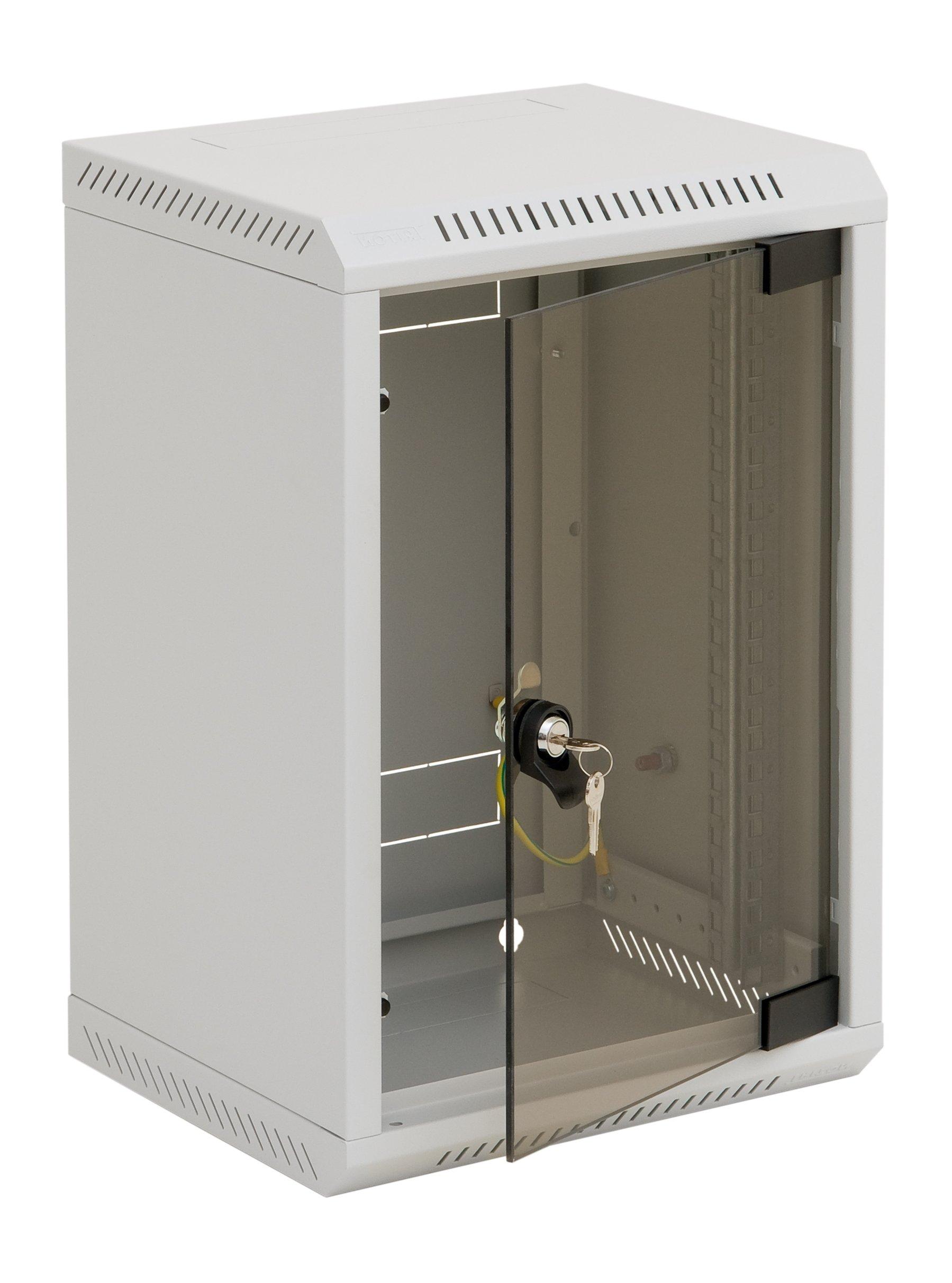 1 Stk Netzwerk-Wandschrank DV, B=310xH=337xT=260mm,10,6HE,RAL7035 DV610006-A