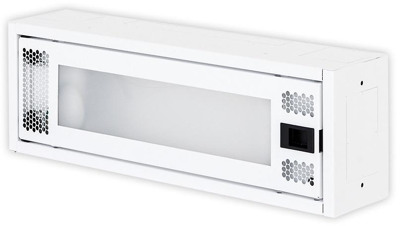 1 Stk Daten Heimverteiler, 1-reihig,  8xTOOLLESS, 1x230V, RAL9003 DW4HD108F-